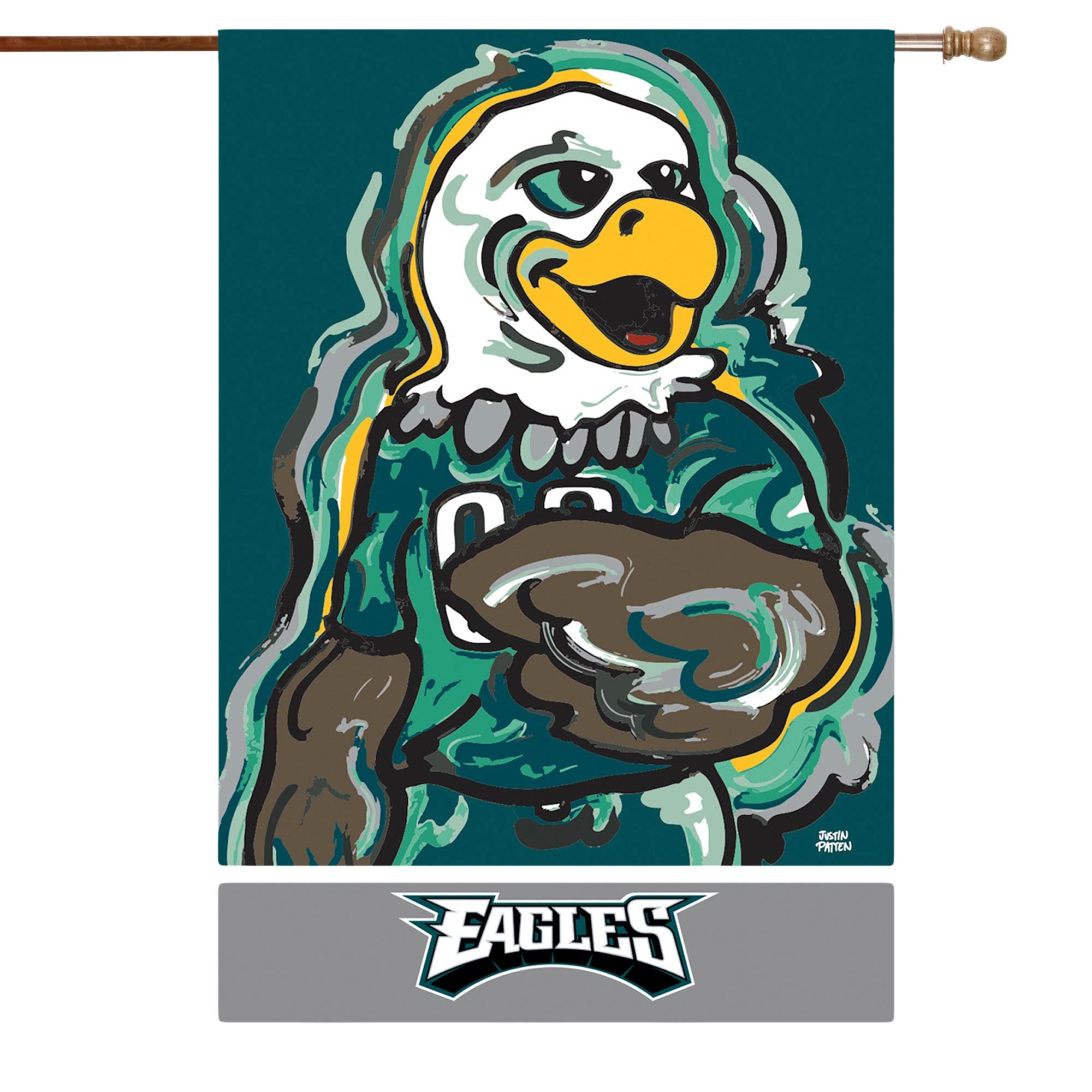 Philadelphia Eagles 29 X 43 Double Sided Justin Patten House Flag Walmart Com Walmart Com