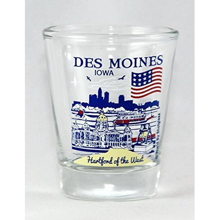 Des Moines Iowa Great American Cities Collection Shot Glass](City Of West Des Moines)