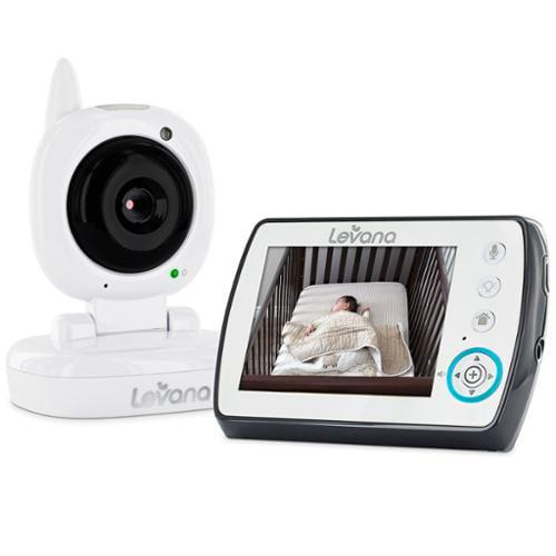 "Levana Ayden 3.5"" Digital Video Baby Monitor with Night Vision Camera, Temperature Monitoring, Talk to Baby"