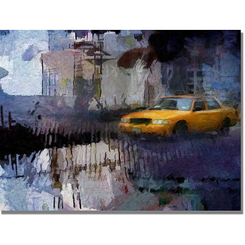 "Trademark Fine Art ""Yellow Cab"" Canvas Wall Art by Adam Kadmos"
