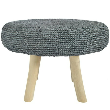 Awesome Moes Kokopelli 24 Round Woven Coffee Table In Gray Theyellowbook Wood Chair Design Ideas Theyellowbookinfo