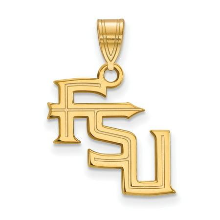 10K Yellow Gold Charm Pendant Florida NCAA State University 23 mm 17 State University Sports Charms