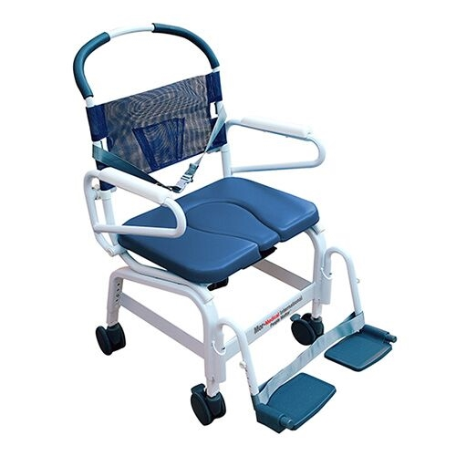 """Euro Deluxe 22"""" Shower Commode Chair - MD-122-4TL-BL"""