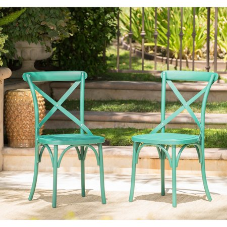Christopher Knight Home Danish Outdoor Farmhouse Dining Chair Set Of 2 By