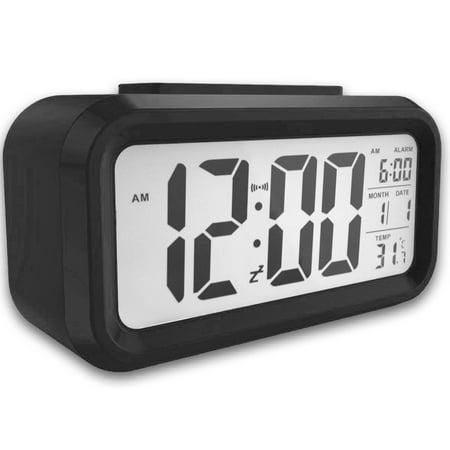 Digital Alarm Clock Fashion Table Sensor Automatic Snooze Desk With Temperature Calendar Date