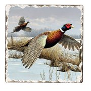 Counter Art Tumbled Tile Coasters 89292, Game Birds - Pheasants, Set of 4