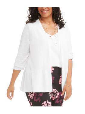 a35f8f9e7c6 Product Image Terra   Sky Women s Plus Open Cardigan with Peplum