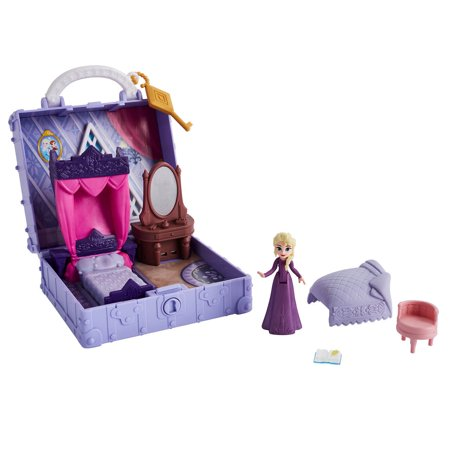 Disney Frozen 2 Pop Adventures Portable Pop-up Elsa's Bedroom Playset with Elsa Small Doll