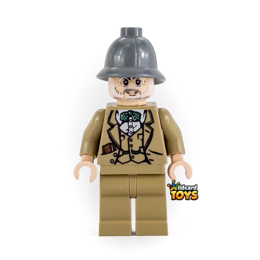 LEGO INDIANA JONES - DR. HENRY JONES SR. - DARK BLUISH GRAY PITH HELMET MINIFIGURE