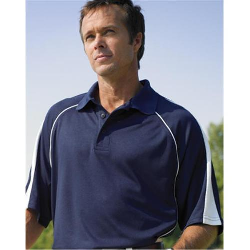 2850 Men's Performance Golf Shirt with Insert-Navy/White-XL