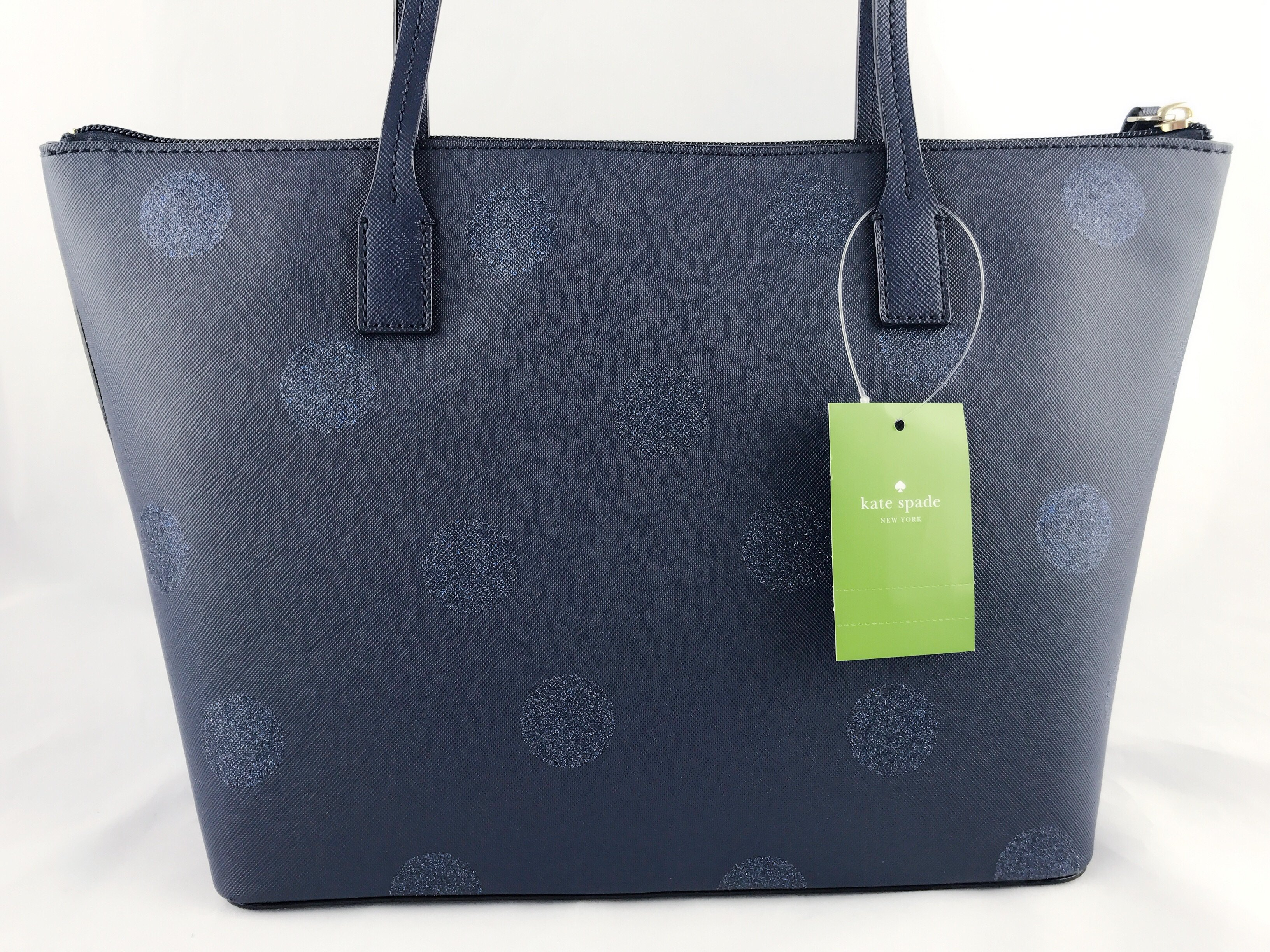 Kate spade haven lane hani small tote navy blue glitter polka dots kate spade haven lane hani small tote navy blue glitter polka dots handbag walmart junglespirit Image collections