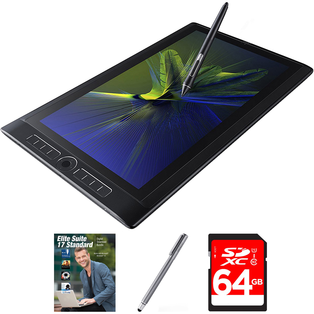 "Wacom MobileStudio Pro 16"" Tablet i5 256GB SSD, Windows 10, NVIDIA M600M (DTH-W1620M) with Corel Elite Suite 17 Software Bundle, Bamboo Solo Stylus for Tablets and Smartphones & 64GB Memory Card"
