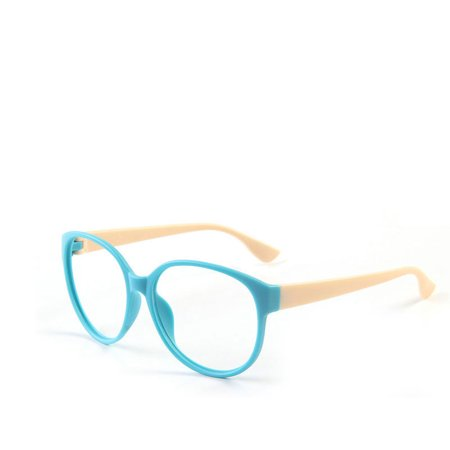 Fashion Unisex Women Men Glasses Frame No Lens Eyeglasses Eyewear Nerd Blue + (Buy Fashion Glasses)