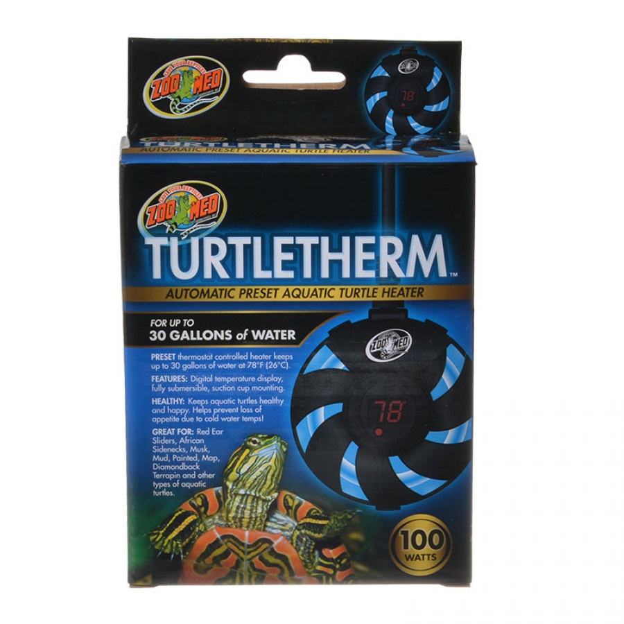 Zoo Med Turtletherm Automatic Preset Aquatic Turtle Heater 100 Watt (Up to 30 Gallons) - Pack of 2