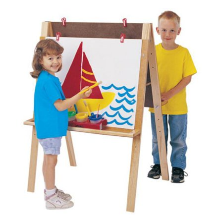 Maple Easels - Jonti-Craft Double Adjustable Childrens Easel