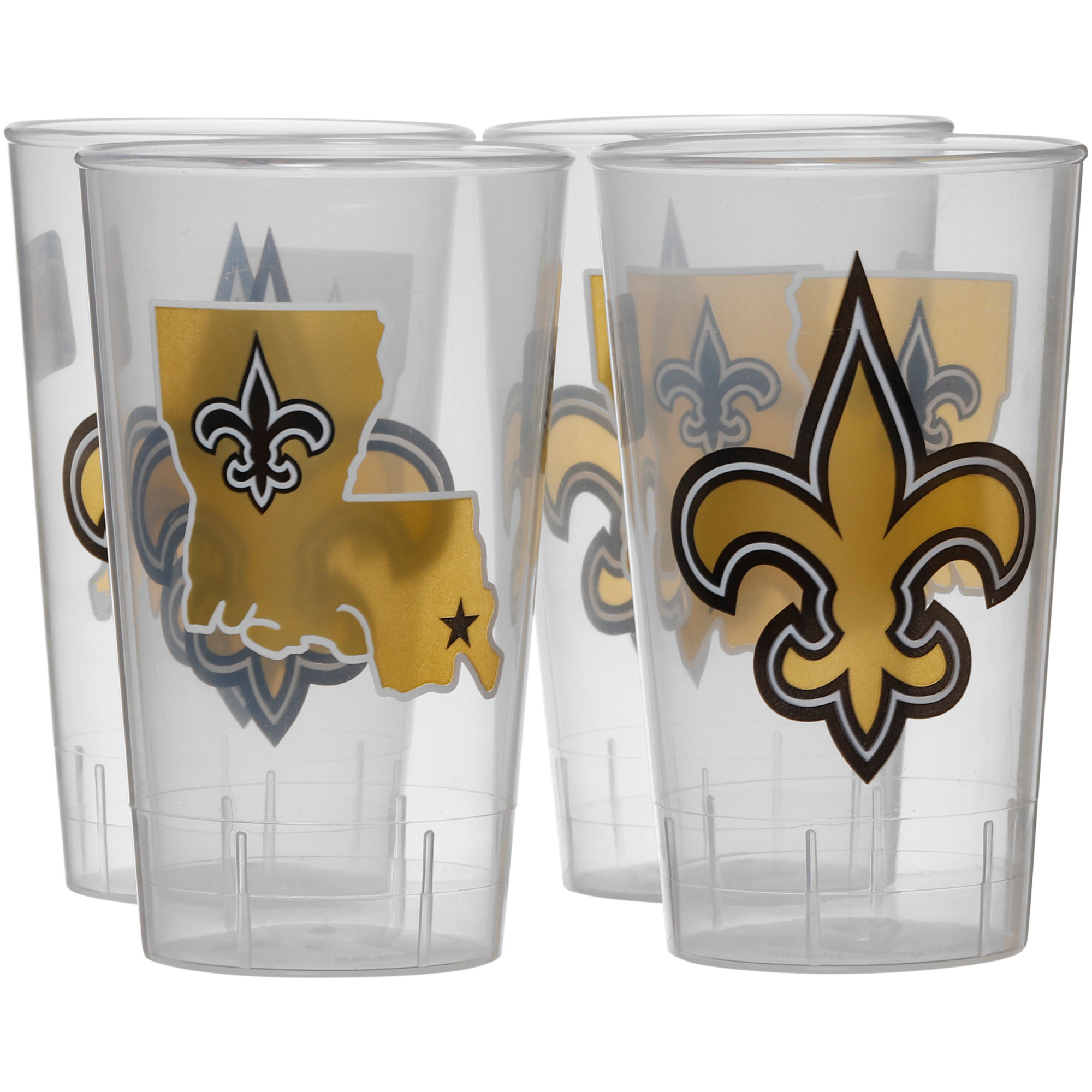 New Orleans Saints 16oz. Acrylic Tumblers 4-Pack Set - No Size