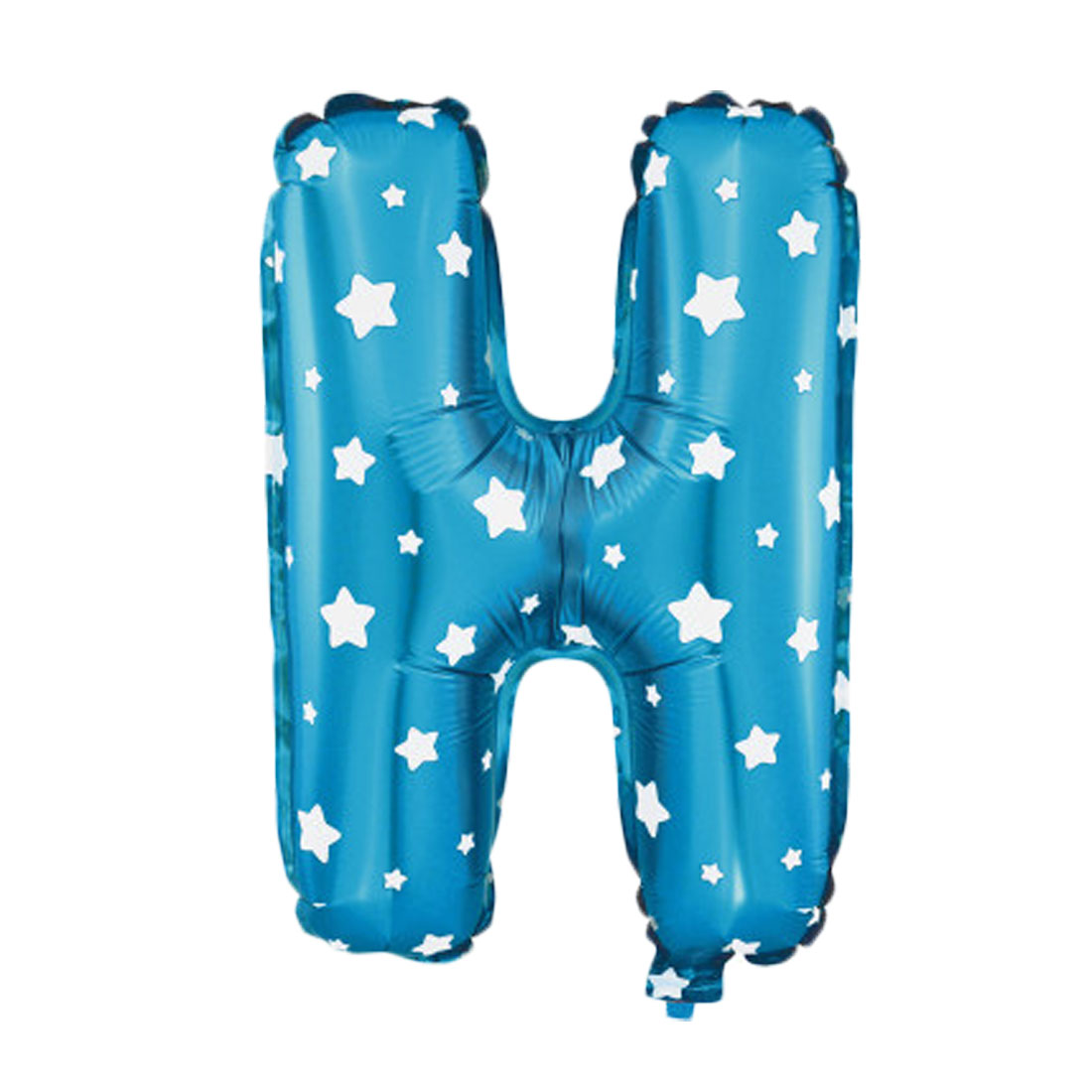 """Unique Bargains 16"""" Blue Foil Letter H Balloon Helium Birthday Wedding Festival Decor"""