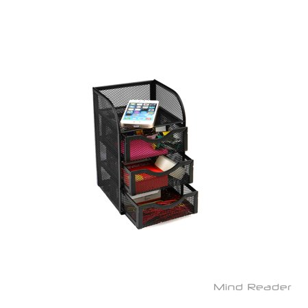 Mind Reader Mini Desk Supply Organizer Black