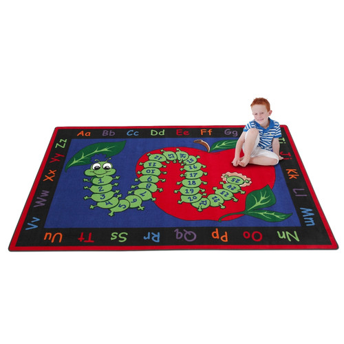Kid Carpet Learn with Inchworm Kids Rug