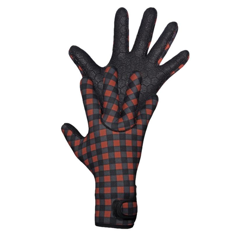 Gator Yentna Waterproof Full-finger Neoprene 3.5mm Gloves Black/Red Large