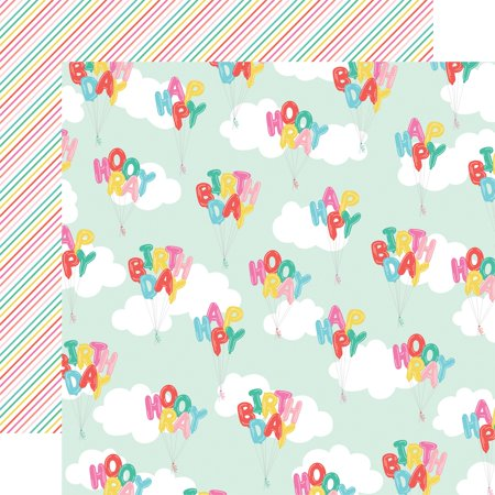 Let S Party Double Sided Cardstock 12 X12 Happy Birthday Walmart