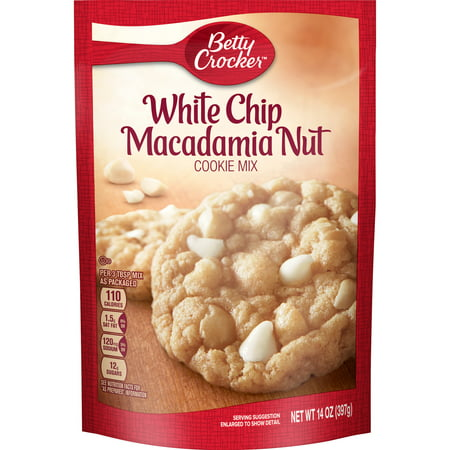 (2 Pack) Betty Crocker White Chip Macadamia Nut Cookie Mix, 14 (Ghirardelli White Chocolate Chip Macadamia Nut Cookie Recipe)
