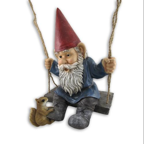 Happy Pastimes Swinging Garden Gnome Statue Swing by DWK Corporation