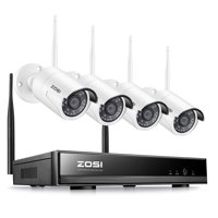 ZOSI 4 Channel Wifi NVR 1080p HD Wireless Outdoor Security IP Camera Video Home Surveillance System