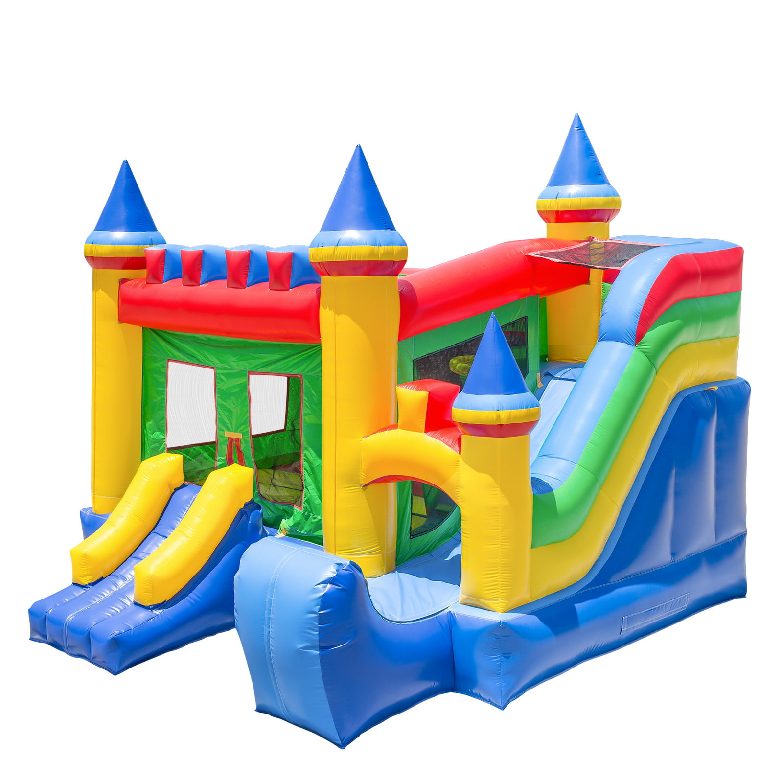 Inflatable HQ Commercial Grade Bouncing Castle Kingdom Bounce House 100% PVC with Blower and Slide by Inflatable HQ