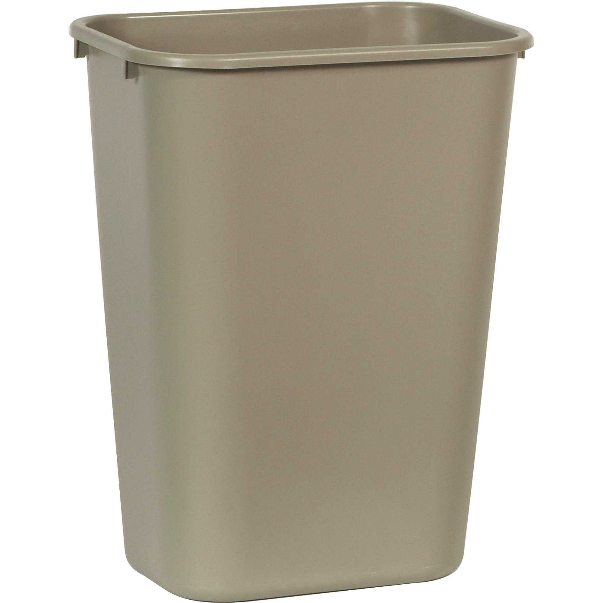Rubbermaid 295700BG 10.25 Gal. Desk side Plastic Wastebasket (Beige)