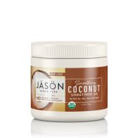 JASON Smoothing Organic Coconut Oil, 15 oz. (Packaging May Vary)