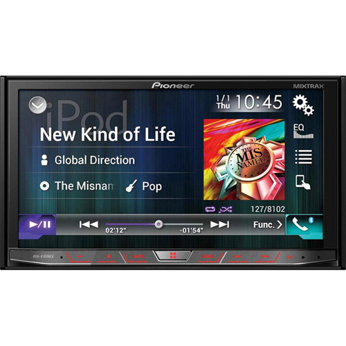 "Pioneer AVH-4100NEX 2-DIN Flagship Multimedia DVD Receiver with 7"" WVGA Touchscreen Display"