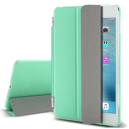 TKOOFN IPad mini 4 case ,AU Slim Smart Magnetic Leather Stand Cover Back Case for Apple iPad Mini 4 (A1538 A1550) (Ipad Mini Smart Case Apple)