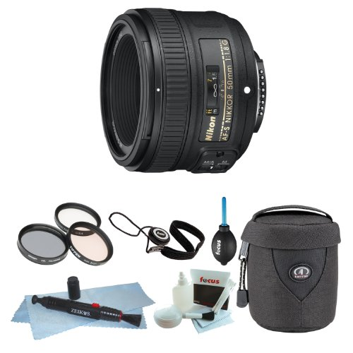 Nikon AF-S NIKKOR 50mm f/1.8G Lens + 58mm Filters + Backp...