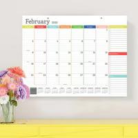 2020 Rainbow Blocks Large Desk Pad Calendar Monthly Blotter 22x17 - For Mom, Family Planning