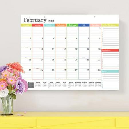 2020 Rainbow Blocks Large Desk Pad Calendar Monthly Blotter 22x17 - For Mom, Family Planning Popular Desk Calendar