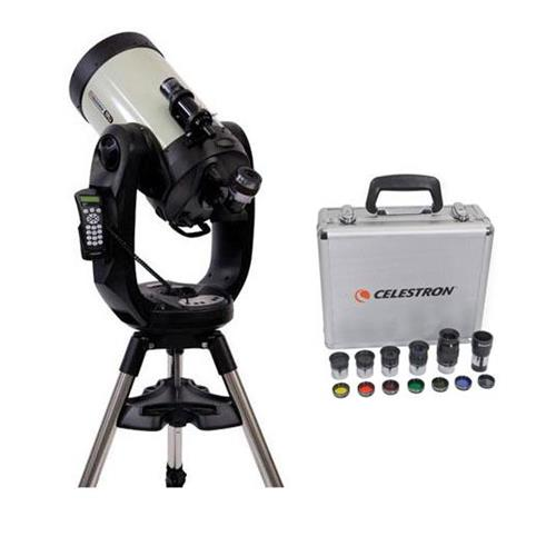 Celestron CPC Deluxe 1100 HD Computerized Telescope with Deluxe Accessory Kit (5 Celestron Plossl Eyepieces,... by