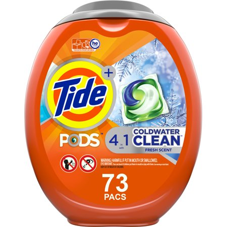 Tide Pods Coldwater Clean 73 Ct, Laundry Detergent Pacs
