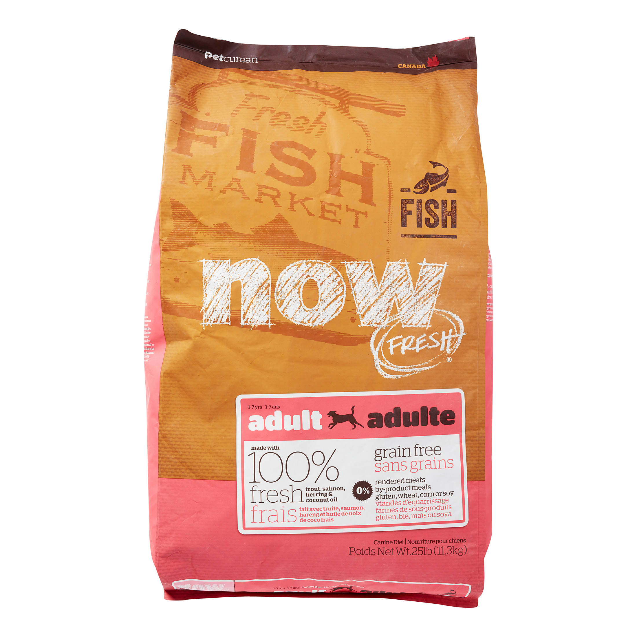 Petcurean Now Fresh Grain-Free Fish Recipe Dry Adult Dog Food, 25 Lb