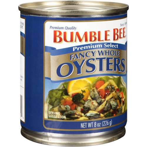 Bumble Bee Premium Select Fancy Whole Oysters, 8 oz