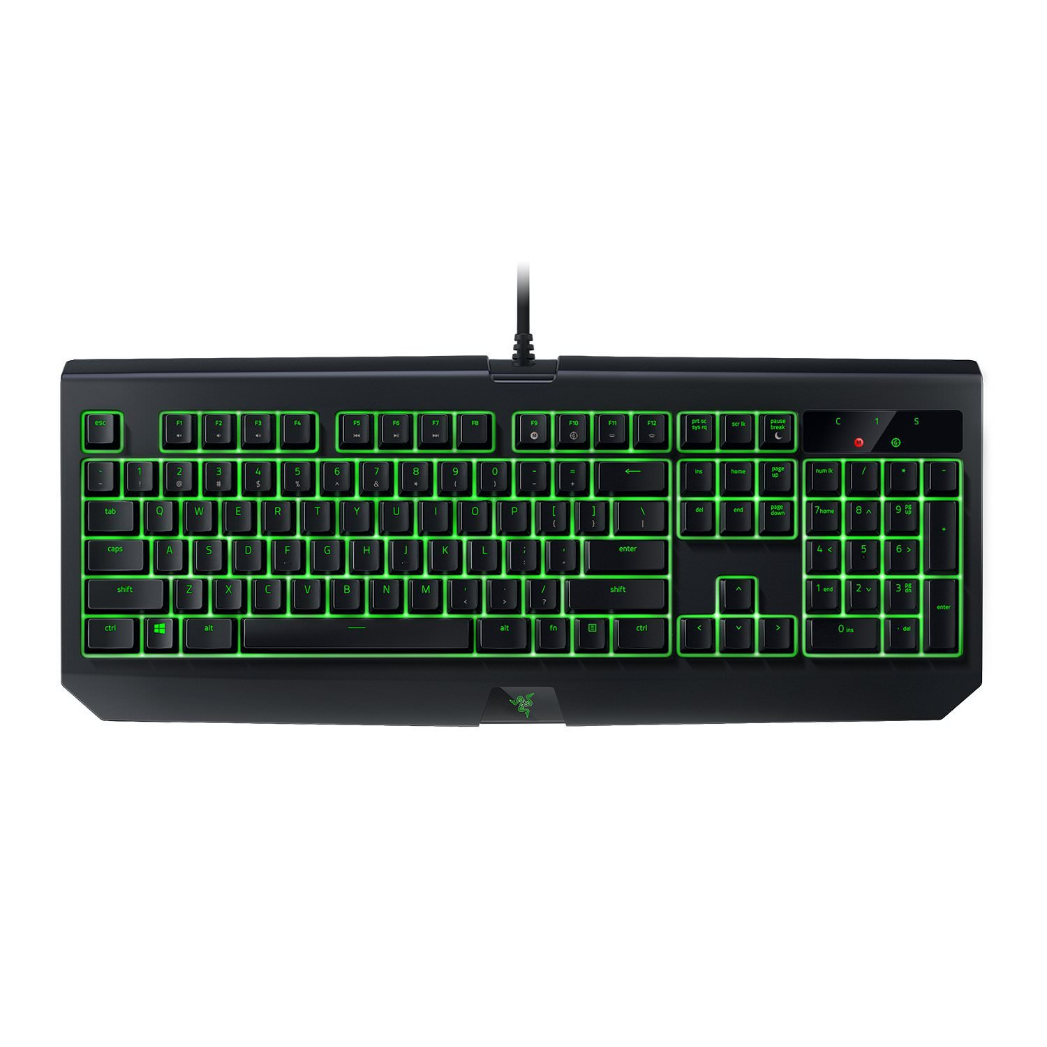 Razer BlackWidow Ultimate - Water and Dust Resistant Backlit Mechanical Gaming Keyboard with Razer Green Switches (Tactile & Clicky)