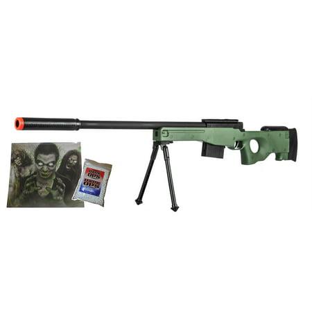 300 FPS - Airsoft Rifle Gun - 37 3/4 Inch Length -Green w/ Target &