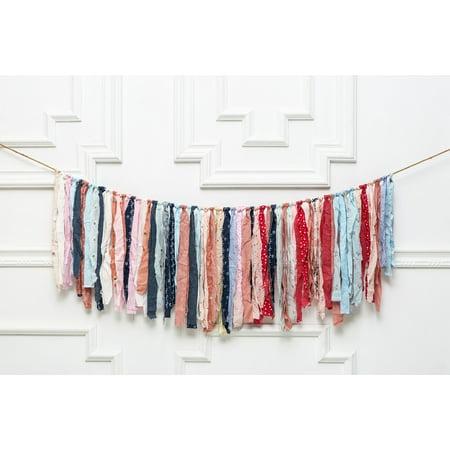 Mix Fabric Garland // Custom Colors // Nursery Decor // Fabric Bunting // Party Decor // Backdrop // Photoshoot Decor// Shabby Chic