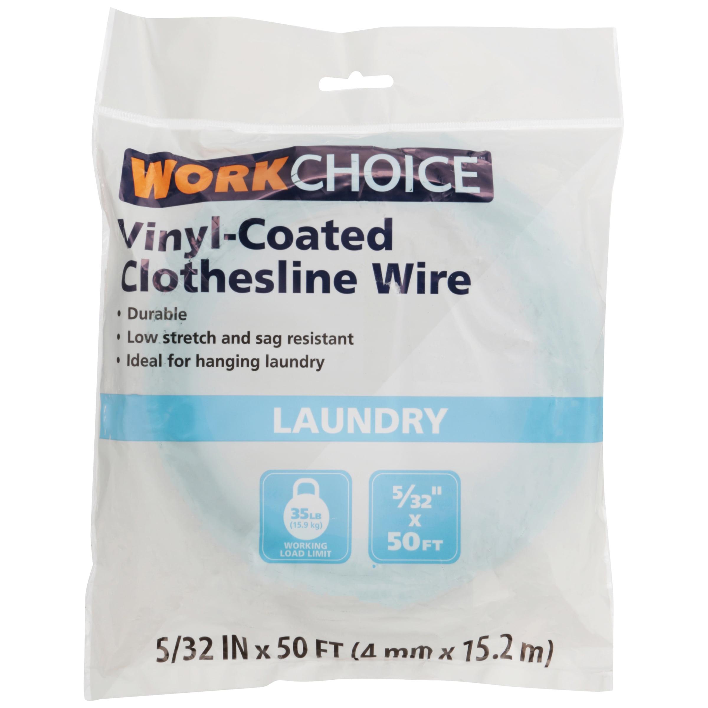 50\' Green Vinyl Coated Clothesline Wire - Walmart.com