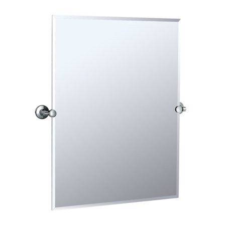 "Gatco 4849S Max 23-1/2""W X 31-1/2""H Rectangular Frameless Wall Mounted Mirror with Tilting Feature"