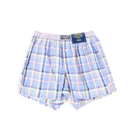 Polo Ralph Lauren NEW Blue Mens Size Small S Plaid Print Boxer Shorts
