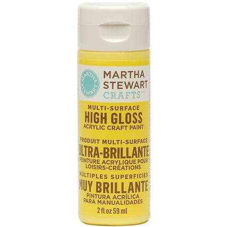 Martha Stewart High Gloss Acrylic Craft Paint 2 Ounces-Chamomille for $<!---->