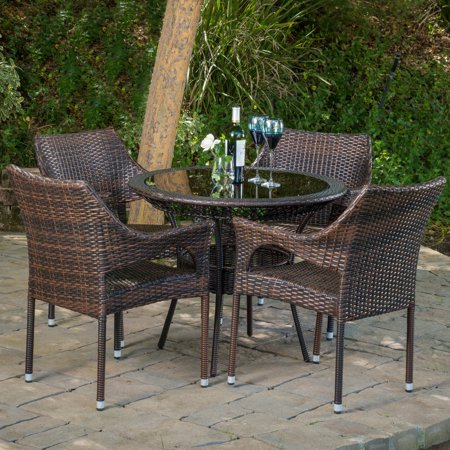 Branden 5 Piece Wicker Patio Dining Set ()