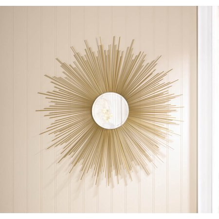 Round Mirror Wall Art Iron Gold Framed Wall Mirrors Large