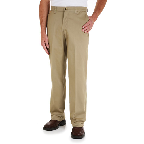 Wrangler Men's Comfort Solution Series Flat-Front Twill Pant